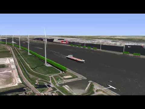 3D visualisatie Windpark Nieuwe Waterweg