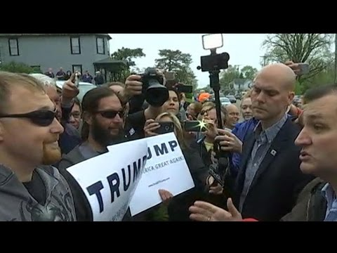 Watch: Trump supporter confronts Ted Cruz