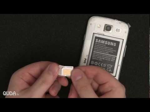 Samsung Galaxy SIII Sim-Karte. MicroSD und Akku installieren (Anleitung)