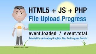 File Upload Progress Bar Meter Tutorial HTML5 Ajax PHP