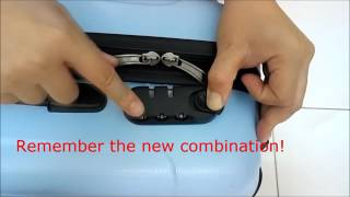 3 Steps to reset Luggage lock (no reset button type)