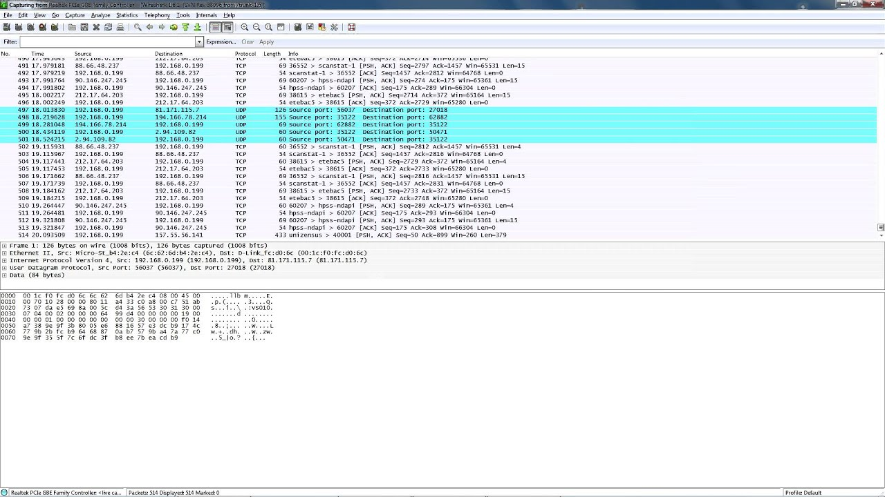 how to get wireshark to make an ip list