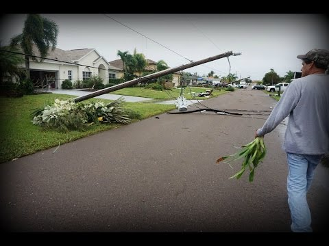 EF2 TORNADO DAMAGE CAPE CORAL FLORIDA 1-9-16