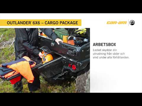 Can-Am Outlander 6X6 1000 XT Cargo package Sweden