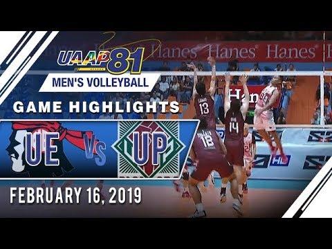 UAAP 81 MV: UE vs UP  Game Highlights  February 16  2019