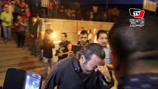 انهيار وبكاء أحمد عزمى فى جنازة خالد صالح