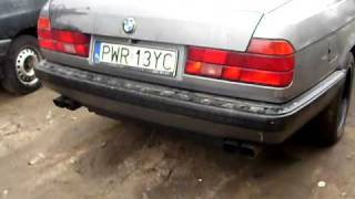 BMW 750 V12 E32 DUAL EXHAUST