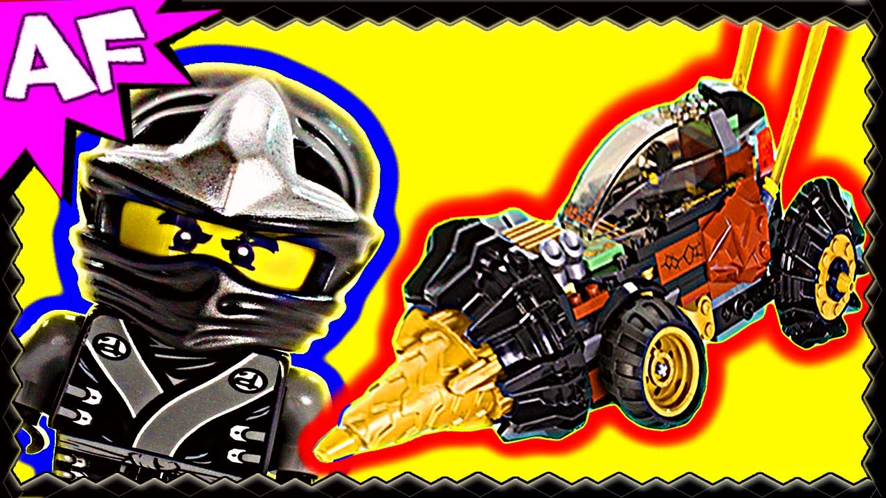 COLE's EARTH DRILLER 70502 Lego Ninjago Stop Motion Set Review ...