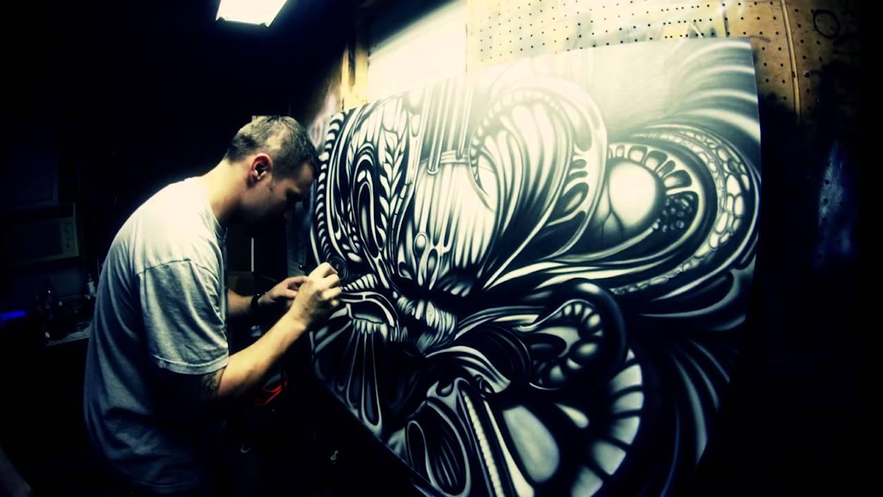 Air Brush Skull Painting