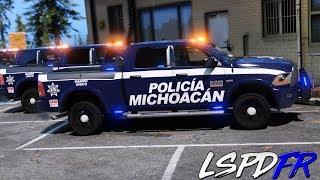 GTA 5 LSPDFR #242 POLICÍA ESTATAL DE MICHOACÁN | PERSECUCIONES | TheAxelGamer