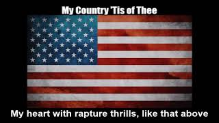 American Patriotic Song - My Country 'Tis of Thee (Nightcore Style With Lyrics)