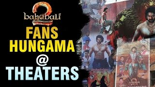 baahubali 2 hungama at theaters | Baahubali 2 Hungama at Theaters | Prabhas | anushka