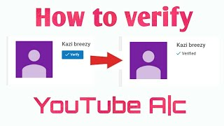 How to verify your youtube channel account on Android