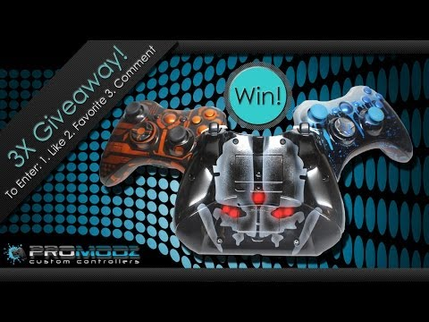 3x Controller GIVEAWAY! COD Ghosts - BO2 Cyborg Camo - Blue Drip Custom 360 Controllers