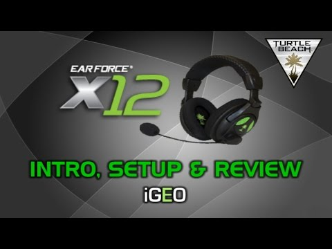 Turtle Beach Ear Force X12 Gaming Headset - Intro. Setup & Review - ByGEO