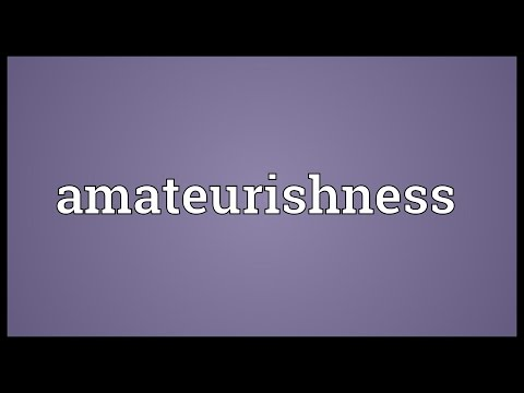 Header of amateurishness