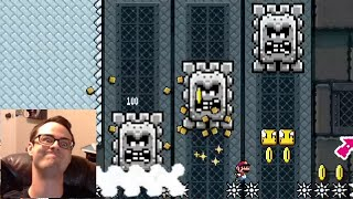 Mario Maker - Shroom Run and POWer Overwhelming | Blind Kaizo Race #18