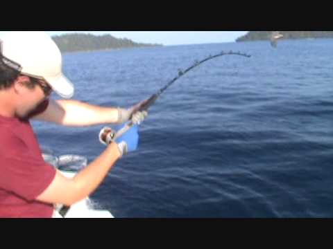 Huge Cubera Snapper fishing almost breaks rod - Caranha enorme quase quebra a vara