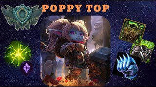 """League of Legends gameplay episode 10 ▼ POPPY top ▼ """"Unranked to Platinum"""""""