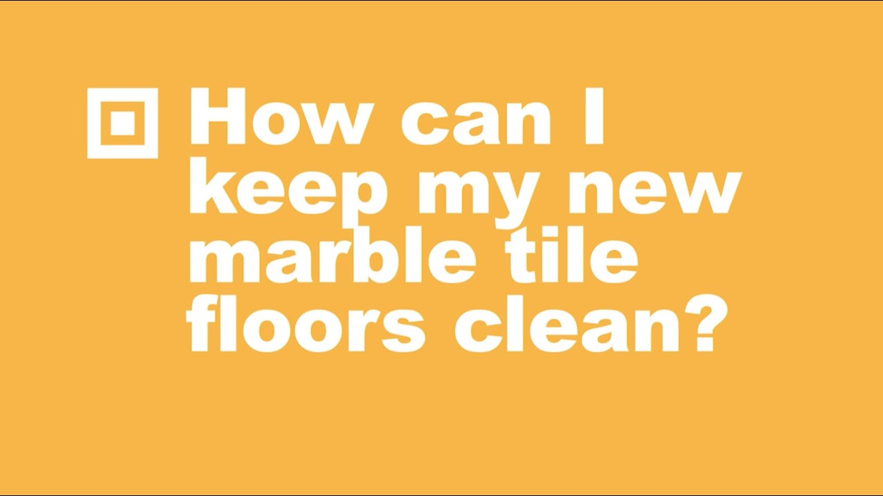 How to clean marble tile floors youtube for How to clean flor tiles