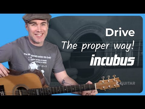 Incubus Drive Guitar Lesson Tutorial Chords Strumming Acoustic