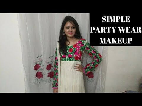 Simple Party Wear Makeup  Tutorial In Telugu || HEAVENLY HOMEMADE