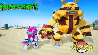 Minecraft pixelmon: Cùng Noob Yeti Tiến hoá pokabu pokemon