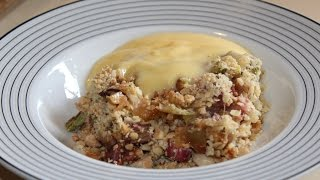 Apple & Rhubarb Nut Crumble