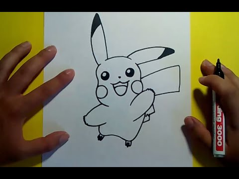Como dibujar a Pikachu paso a paso - Pokemon | How to draw Pikachu - Pokemon