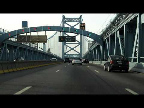Benjamin Franklin Bridge westbound