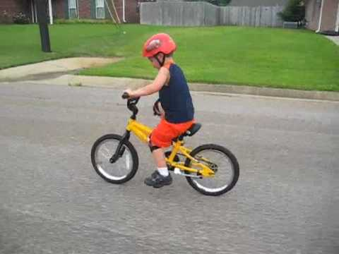 Bikes Videos For Children boy riding new bike no