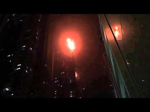Impresionante incendio en un rascacielos de #Dubai