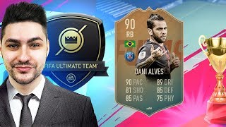 FIFA 19 FLASHBACK DANI ALVES PLAYER REVIEW - BEST RB in FIFA 19 ULTIMATE TEAM?