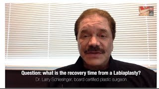 Labiaplasty - The Recovery Time of a Labiaplasty (vaginal rejuvenation) - Larry Schlesinger