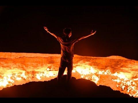 カエルダッシュ!! トルクメニスタン ガスクレーター 地獄の門 - YouTube