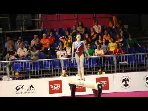 Anne KUHM FRA, Beam Senior Qualification, European Gymnastics Championships 2012
