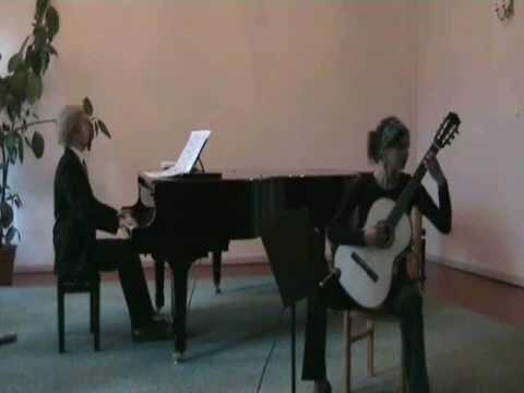 Mario Castelnuovo-Tedesco, Fantasia op. 145 (I. Andantino) for guitar and piano