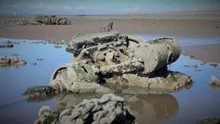 Trek out to new island off the coast of Fleetwood 18th July 2016