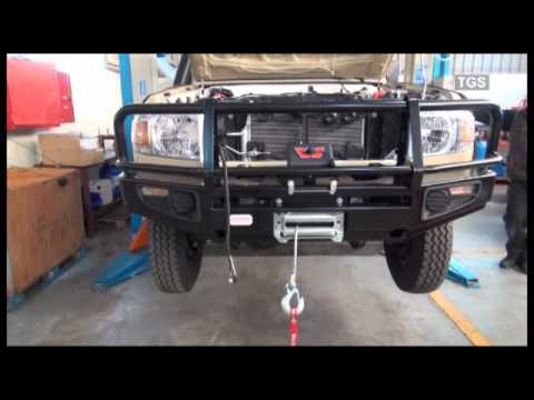 Fitting Of A Winch Amp Bull Bar To A Toyota Land Cruiser 70