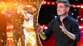 The FUNNY Magician get GOLDEN BUZZER Britain's Got Talent 2017