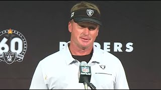 GRUDEN ON BROWN: Raiders coach John Gruden's comments about Antonio Brown and win over Denver