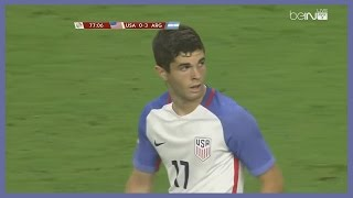 Christian Pulisic vs Argentina (Copa America) 22/06/2016 | English Commentary | HD 60 FPS