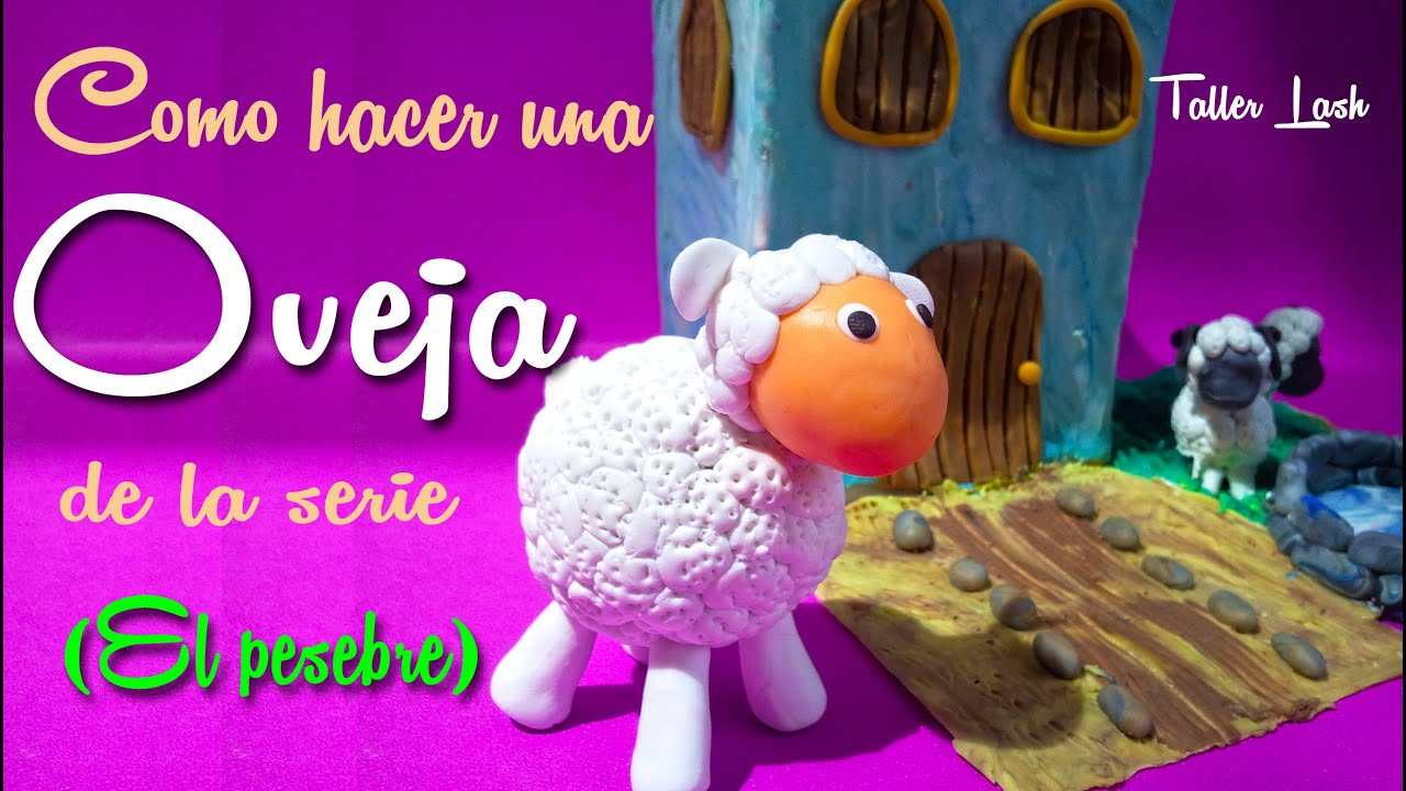 Como hacer una oveja de la serie el pesebre youtube for Como construir pileta de material
