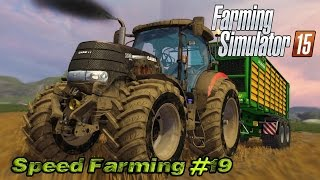Farming Simulator 15 - Speed Farming #19 - Barley silage!!