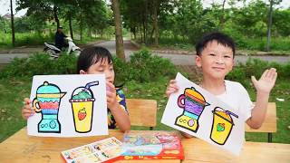 Kids Go To School Learn Colors Milk tea   - Classroom Funny Nursery Rhymes