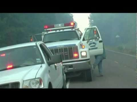 Groveton Texas wildfires, helicopter flyovers