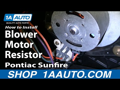 How To Install Replace Blower Motor Resistor Cavalier Sunfire 95-05 1AAuto.com