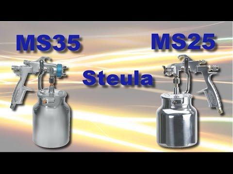 Pistolas para pintura de baixa e média produção Steula