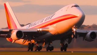 STUNNING Kalitta Air Boeing 747 SUNSET Takeoff & Landing ● Melbourne Airport Plane Spotting