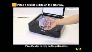 01. PIXMA MG7720: Print on a disc label copy
